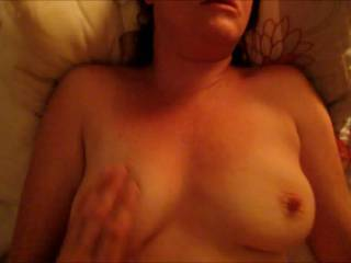 Loving the way her tits bounce, she is one dirty whore