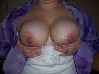 We would love to suck those beautiful tits and nipples all-nite-long.  Well, maybe not suck them all nite, but you better believe that they would be part of the action all-nite...