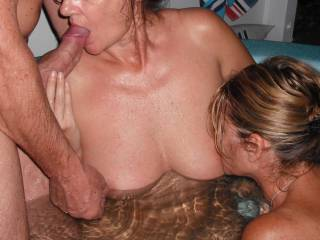 Mrs Oz and our swinger friends have fun in the spa, when they came around for a play.