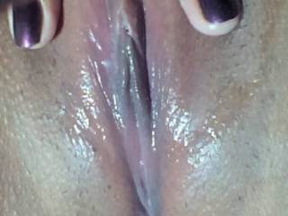 My fubu send me her wet pussy after she cum