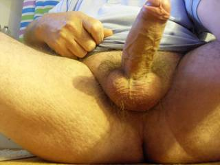 OMG, your big hard cock is so desirable... I want to get on all fours and suck it till i drain your balls completely out of cum...