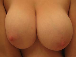 waooooo what a great view on your perfect big boobs! i want to dive inbetween them so badly hotty!  would you prefer that they feel sum of my rockin hard cock, or my lips and tongue givin' them sum good attention?