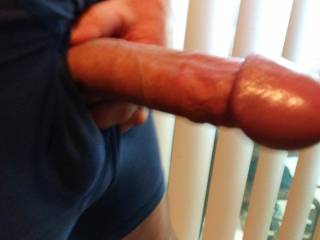 My COCK needs fresh air often! The tip only swells up when I get really horny...