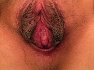 My wide open pussy requires a lot of semen to fill up my meaty vagina