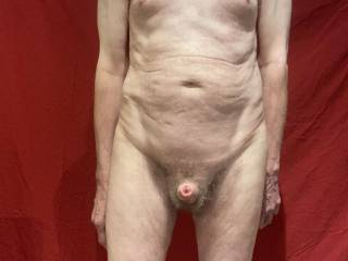M much better view of Mr Stiffie and his open foreskin.