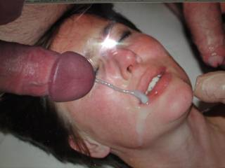 One more for this beautiful girl: cumming on MissBehaveNL willing face!