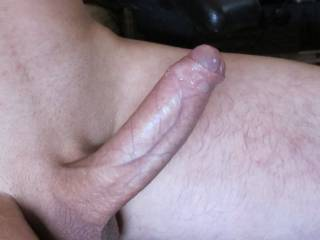 Lubed up ready like I am looking at that nice big smooth cock