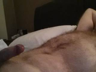 love to chilling there with that long, thick uncut cock in and out of my mouth while i rub them meaty hairy balls!!!