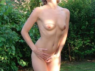 I'd love to get naked with you in the sun and cover your beautiful tits with my cum.