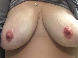 i would love to slide my cock between your tits and plow my load all over them