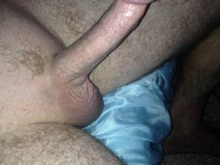 hey i'd love to slow suck that thick sausage ! and them meaty balls!!