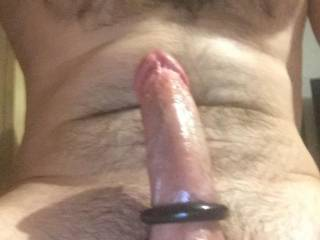 Love the feeling of something tight around my cock...