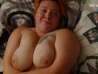 My beautiful girl, with sexy eyes and big tits. And I mean they are HUGE!! lol