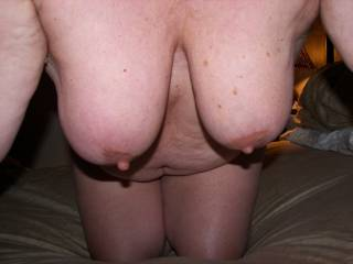 Here is a pic of my breasts. Do you like them? Say hello and let\'s exchange pics.