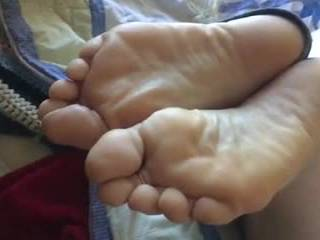 I shot the video 3 yrs ago.  She has the sexiest feet I\'ve seen. So I came out about girls soles 5 yrs ago and now I\'m a flat out soles freak. Divorced now looking to feed my soles fetish. Are hers sweet or what??