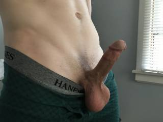 my cock is so ready to be sucked, stroked or fucked.