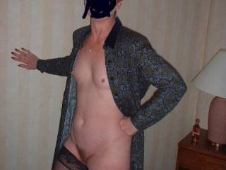 he says i cant wear anything underneath i fooled him i have nylons on   so there