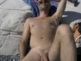 your handsome cock resting in the sun... very nice view