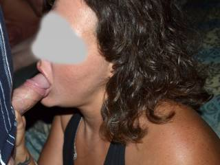 wife of friend blowing hubby