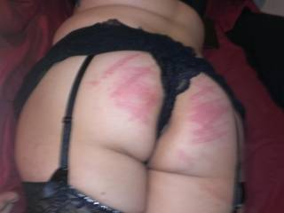 Beautiful marks, beautiful, now lets get the cane out, 24 strokes would look very good across those those beautiful cheeks.