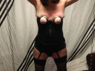 She takes the pain like a good wife should. Who wants to use her??