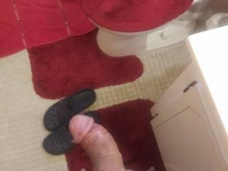 In my shower ready for stroke