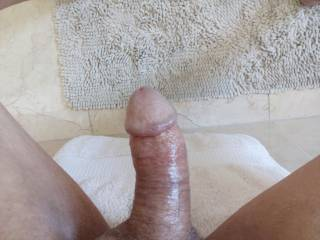 It feels good to take a new picture of my cock. It\'s been awhile