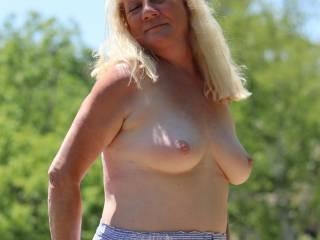 Johanne loves showing her beautiful breast