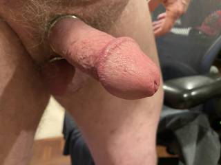 Just enjoying a good morning wank with my cock ring on.