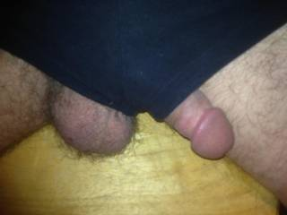 It is very sexy to see your cock sticking out of one pant leg, and your balls sticking out of the other!  HD