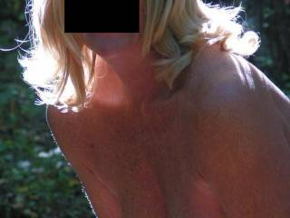 Love how your hair looks as well.  It needs a hand running thru it to hold it back, so it doesn't fall forward on my cock, you should be sucking.  Hubby wouldn't mind taking pix like that, would he?