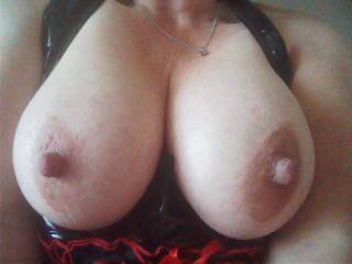 would love to feel those big, soft tits wrapped around this huge, hard cock