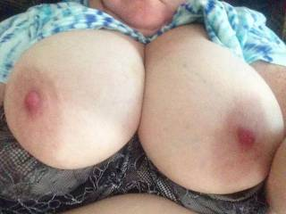WOW....GREAT tits, I'd love 'em wrapped around my cock until I give 'em a creamy reward!