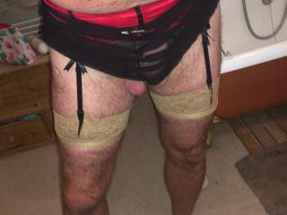 Love to fuck you dressed like this. I enjoy when men wear garters and stockings. Does you wife like to fuck you when you wear her garters? Kathie