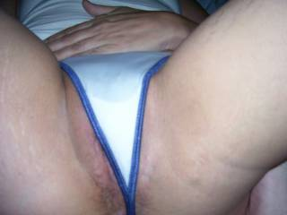 Ex wife unknowingly wearing another girls dirty G=string