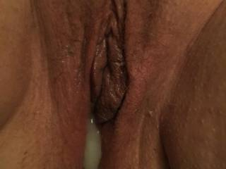 Fresh cream pie after getting her pussy fucked