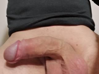 My cock after  masturbating and cum
