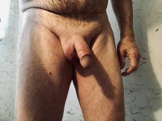 Just finished shaving my cock and balls and then masturbating in the shower.