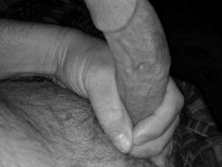In bed thinking of you sliding your sexy self down on my cock