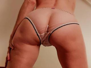 She looks great in See-through panties