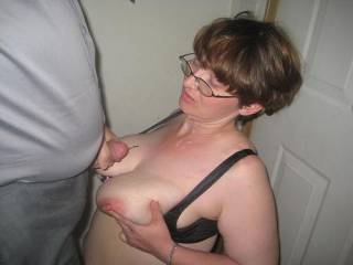 after cumming home from the theater piggy need one more load....what things would you make her do