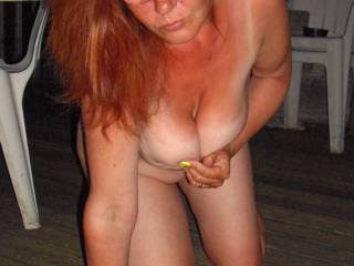 I would fuck you hard from behind,pull your hair and see them great titties bounce!!!! :-):-):-) i can dream ;-) xx