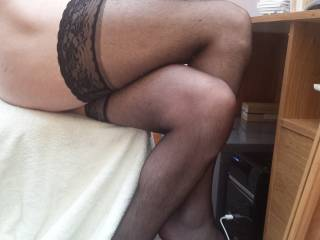 I love so much to rub my cock up and down your legs in nylons