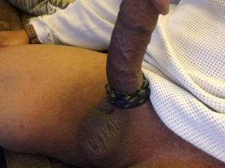 Double cock rings for double pleasure...I need a woman to sit her pussy down onto this for me...