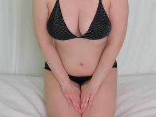 Front view in my black undies