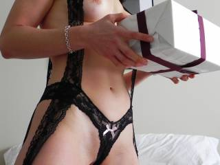 Oh, oh, oh, what a delicious woman in a very hot and sexy outfit.  My hubbys cock is hard and my pussy is wet.  We could eat you up sweetie.  K and G