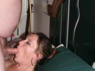 Great position to really pound her throat.