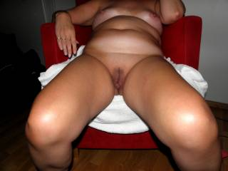She is my 57 y/o wife.What you think about her mature body...............