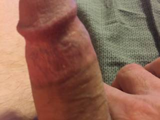 How I'd love to meet somebody that likes holding my cock as much as I do!