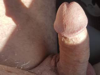 I love driving around naked with a stiff cock.